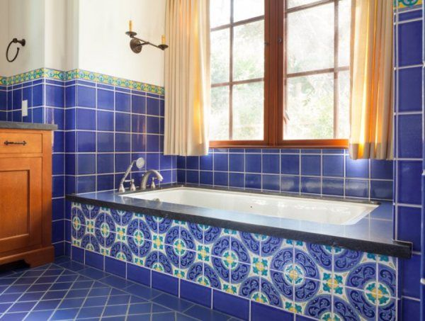 Tile by Style Soak into a Spanish Colonial Bathroom Fireclay Tile