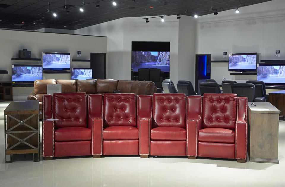 The Home Theater Section At Our Brand New 7227 W. Grand Parkway Gallery  Furniture Location
