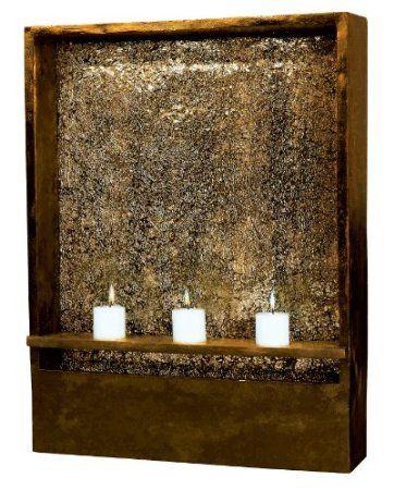 Amazon Com Kenroy Home 50605ambz Shadow Indoor Wall Fountain In