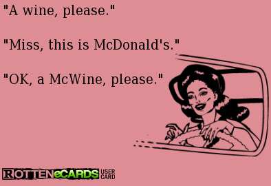 A McWine, Please!