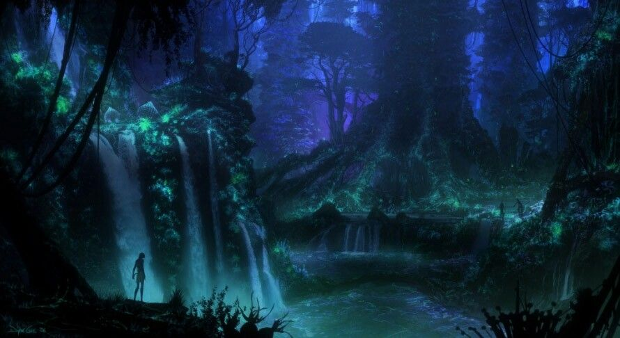 Pandora Waterfalls Planet Pandora Pinterest Concept Art