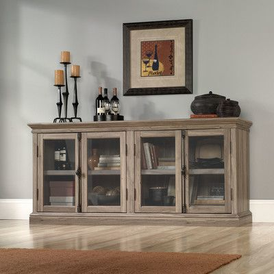 Woodbridge Home Designs TV Stand with Glass Door Cabinets & Reviews ...