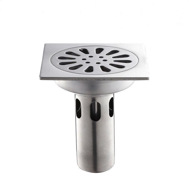 Type Drains Brand Name My Wanfan Material Stainless Steel Style Square Size 4 Inch Function Special Floor Drain F Floor Drains Kitchen Shower Square Bath