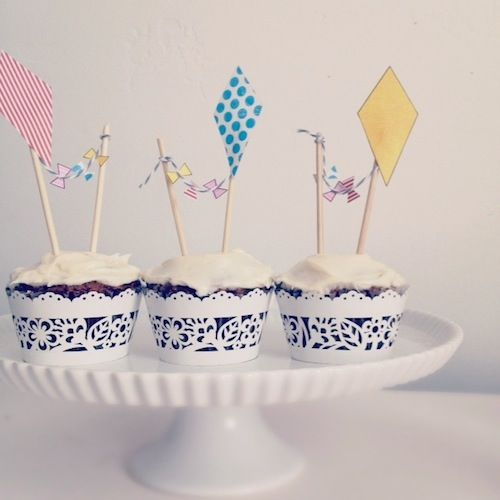 DiyKiteCupcakeToppers Use The Free Template Link To Print On