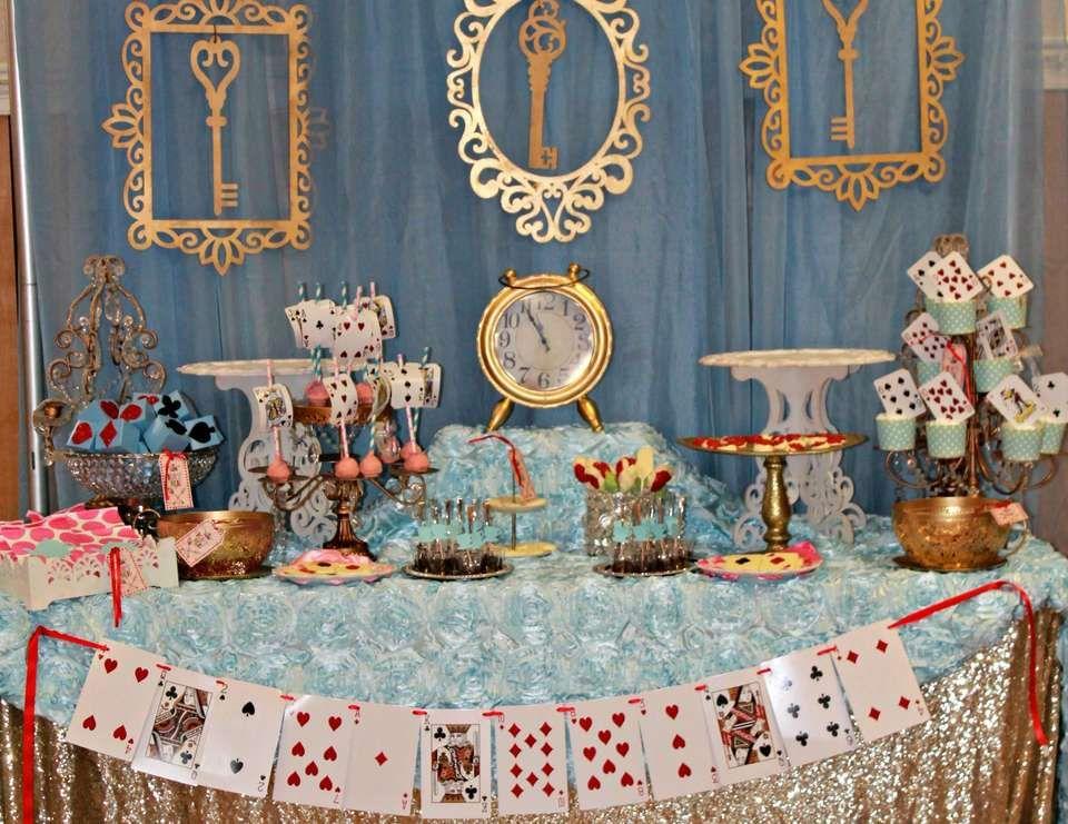 Alice in wonderland birthday alice tea party with