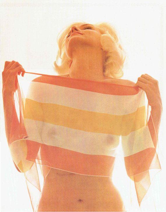 Marilyn Monroe Print Double-Sided Topless Scarf Photographer Bert ...