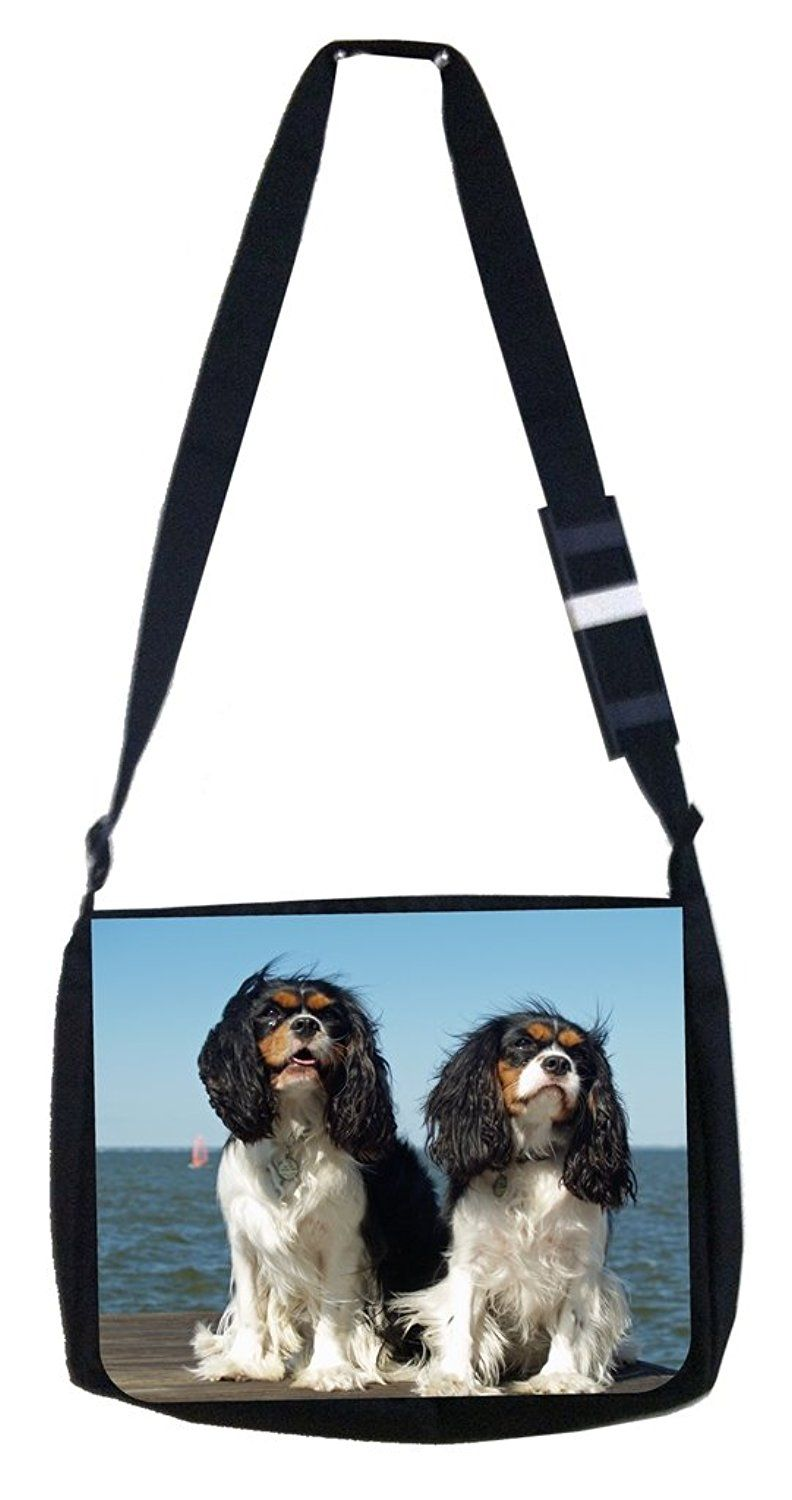 Cavalier Puppies Rosie Parker Inc. TM Medium Sized Messenger Bag 11.75' x 15.5' *** You can find more details by visiting the image link.