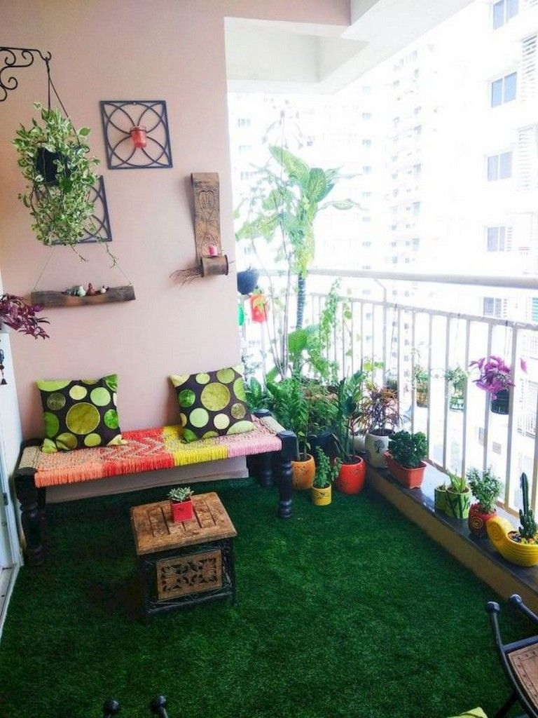 25+ Best Small Apartment Balcony Decorating Ideas  Terrace decor