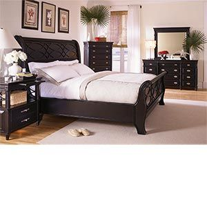 Black Sleigh Bed 6pc King Bedroom Set For The Master 5099 On My