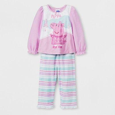 543d0a472 Peppa Pig Toddler Girls  Fairisle 2pc Pajama Set - Pink Purple 2T ...