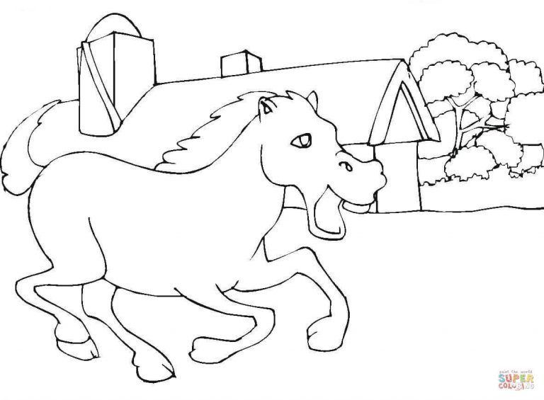 Horse Stable Coloring Pages Click Link For Free Download Hd