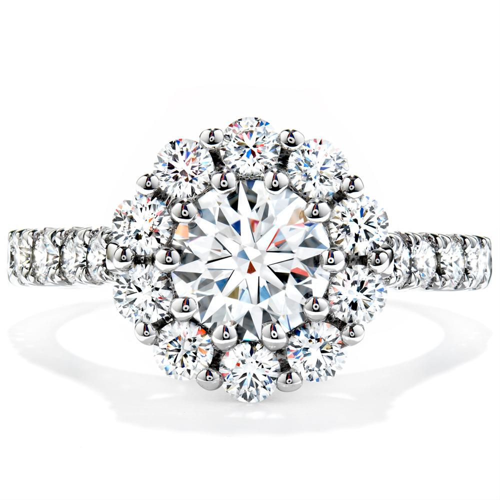 8,800.00 Hearts on Fire Beloved Round Diamond Halo Engagement Ring 1.25ctw