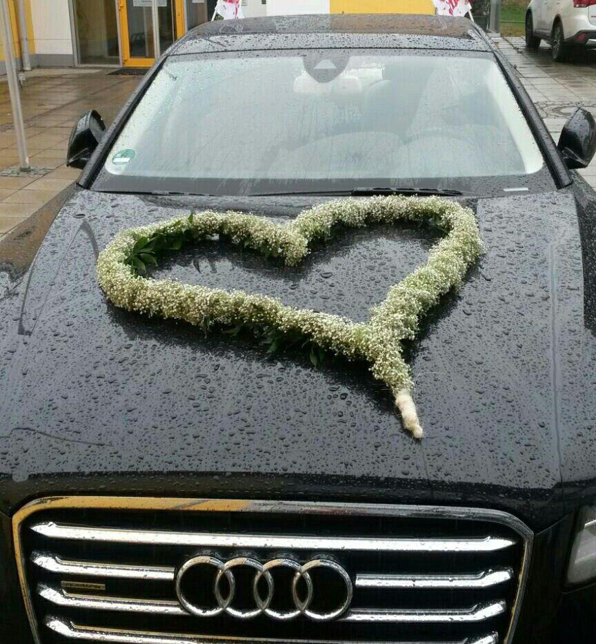 Hochzeitsauto Deko Von Meiner Eigenen Hochzeit Audi A8 Riesenherz