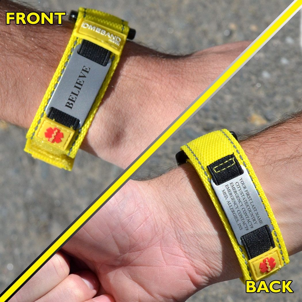 Nylon Idmeband Tech Id Bracelet Running Bracelets For Runners Identification