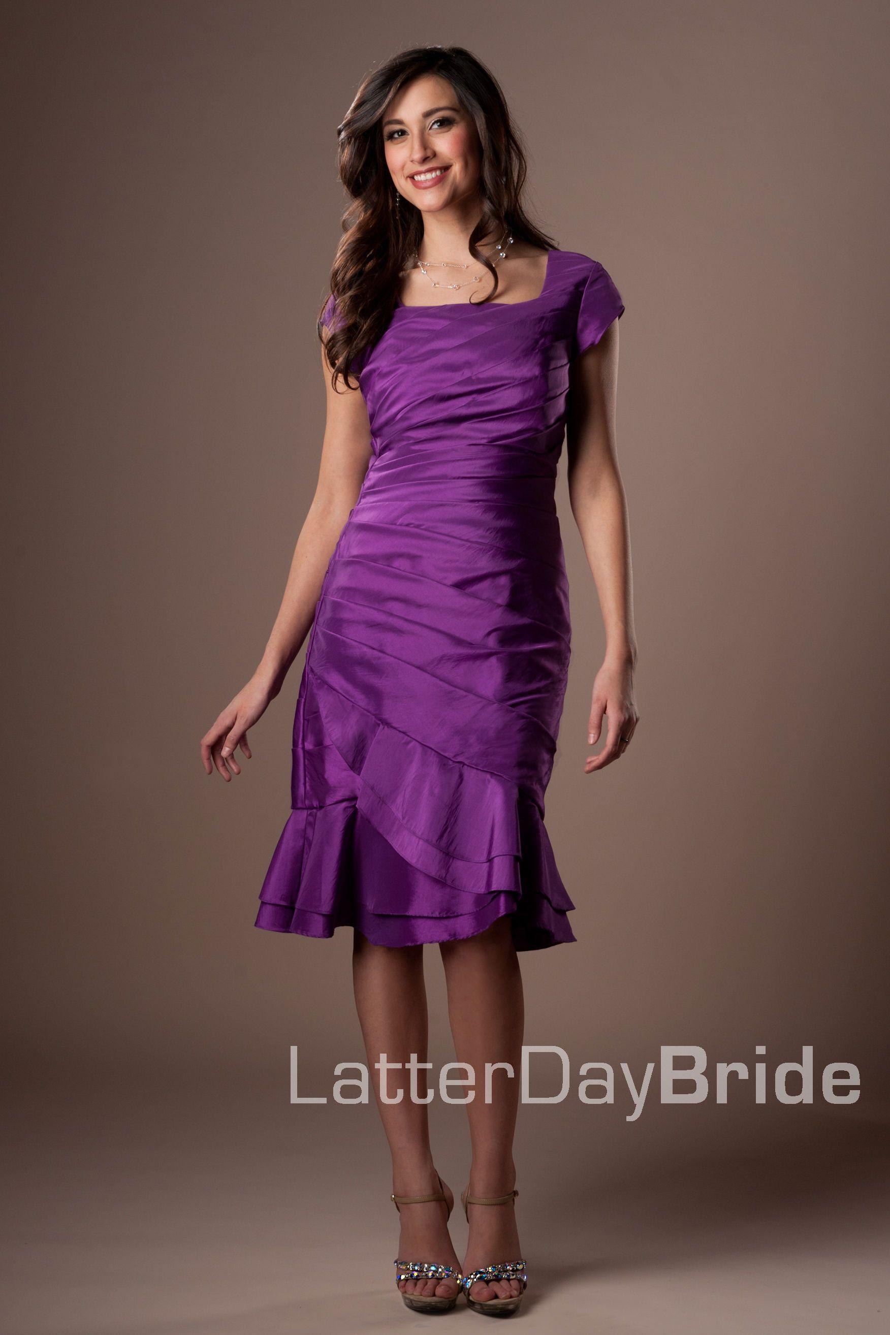 Único Vestidos De Dama Mormón Modelo - Ideas de Vestidos de Boda ...