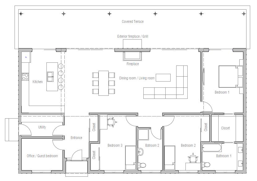 Small House Ch310 House Design House Floor Plans House Plans