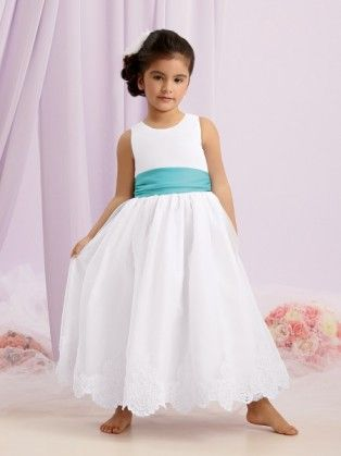 a06acdbf3 Scoop Ankle Length Sashes Satin A Line Flower Girl Dress P3jo0006 ...