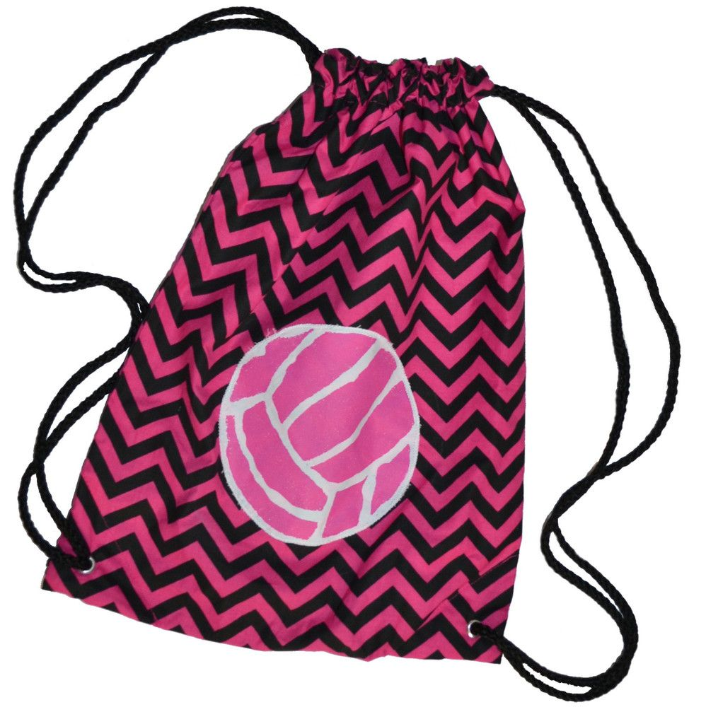 Hot Pink And Black Chevron Volleyball Backpack Bag Volleyball Outfits Volleyball Volleyball Accessories