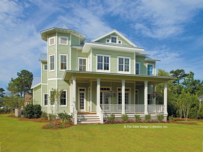 Cottage Style 2 story 6 bedrooms(s) House Plan with 3814
