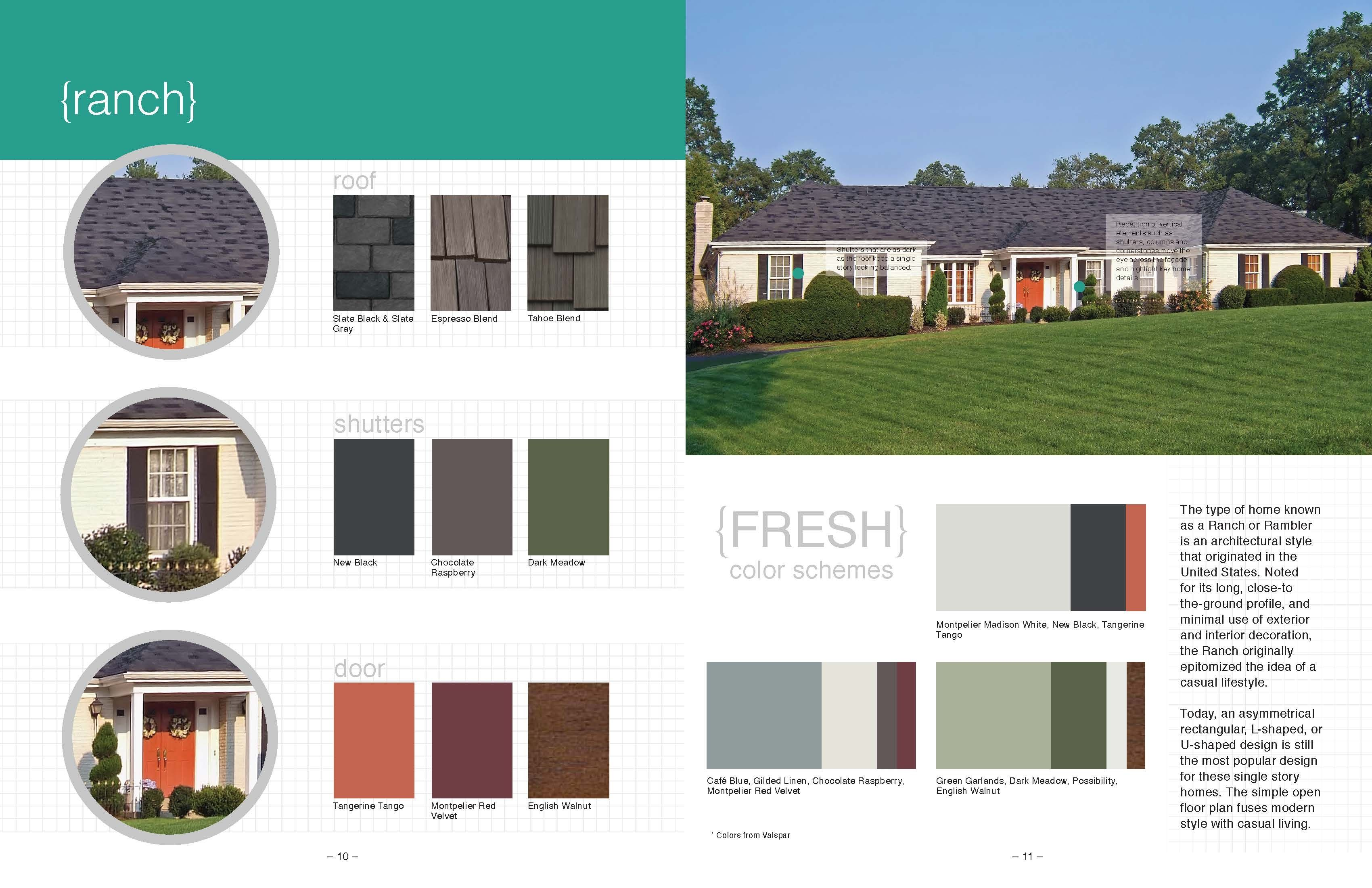 Exterior Color Schemes For Ranch Style Homes Brilliant Free ...