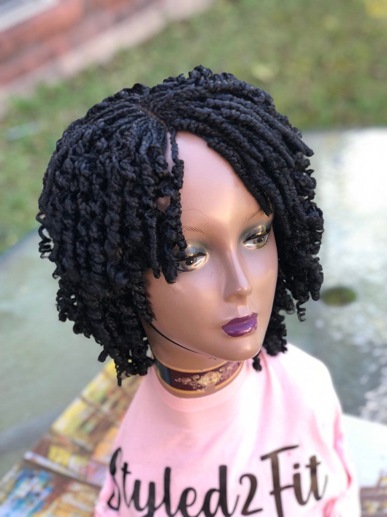 Braided wigshort spiral wigmade to order delivered to
