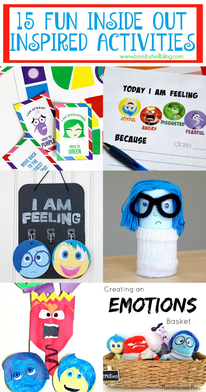 15 Fun And Easy Sewing Projects For Kids: 15 Fun Inside Out Inspired Activites And Game