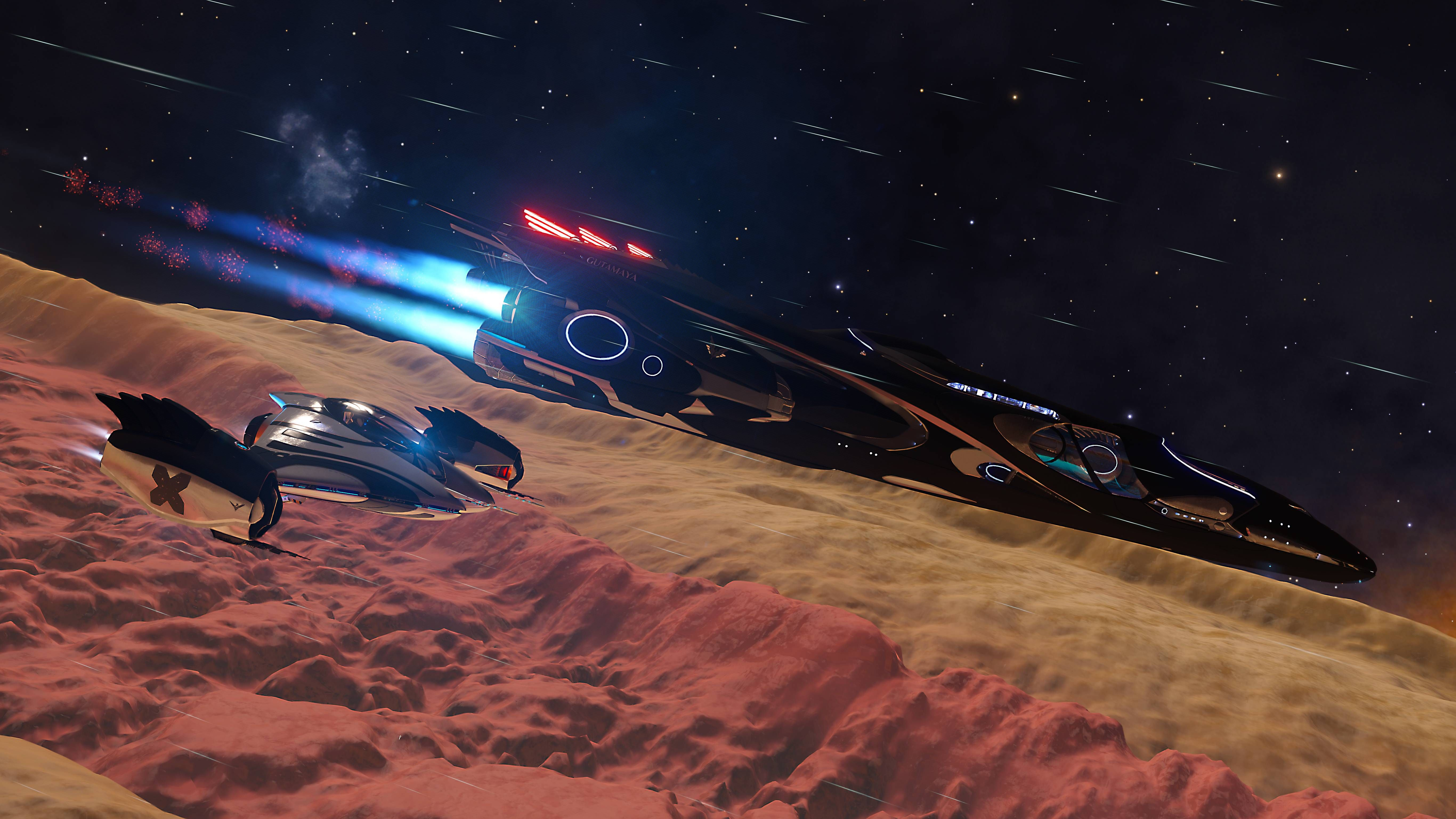 The Imperial Cutter And It S Fighter In Elite Dangerous 5465x3074 Dangerous Fighter Elite