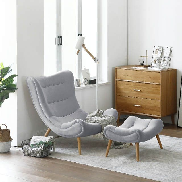 Small Living Room Ideas For More Seating And Style: Louis Fashion Single Sofa Nordic Style Living Room