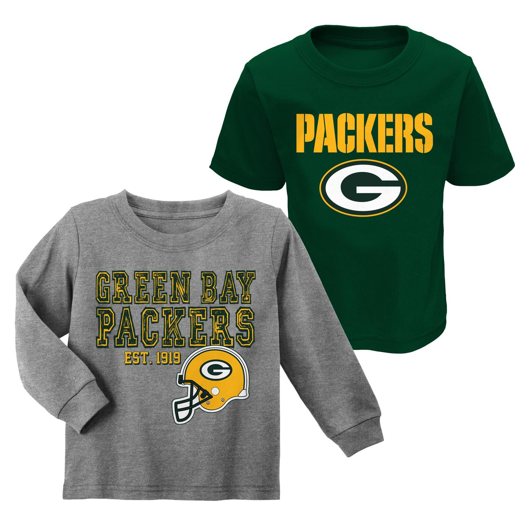 new product 15ab1 ce6e5 NFL Toddler Boys' 2-Pack T-Shirts - Green Bay Packers ...