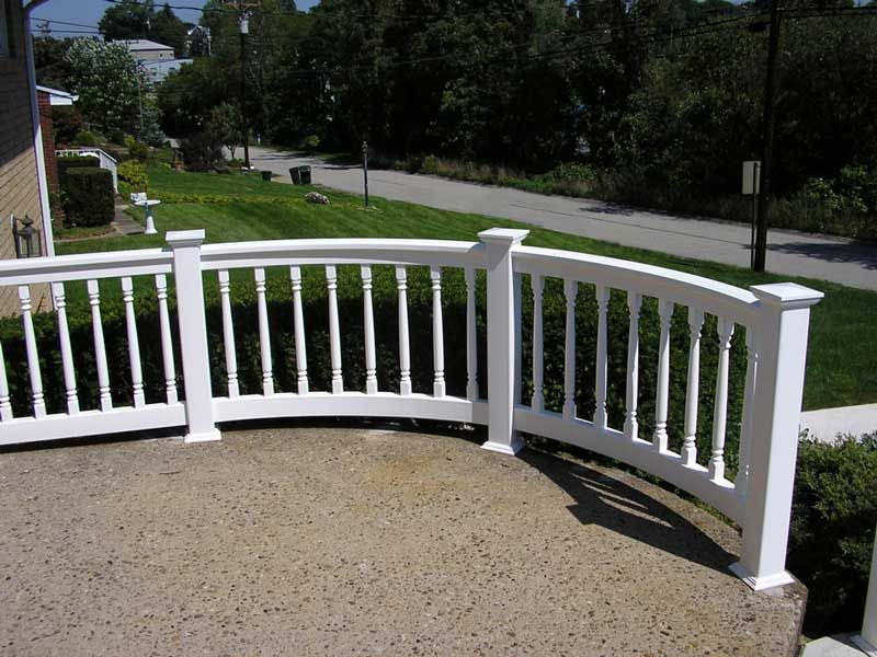Beautiful Curved Porch Railings Check Out Many Deck Railing Ideas  Http://awoodrailing.com