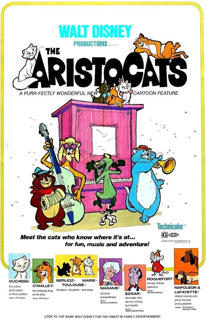 Walt Disney's The Aristocats Disney movie posters, Walt