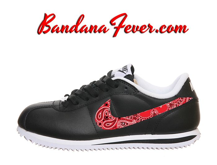 Nike Blue/RedBandana Cortez Leather Black/White