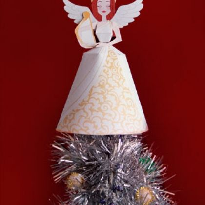 Template christmas tree topper wings images e993. Com.