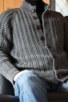 S6917 Veste homme avec côtes fantaisie   – erkek kazakları