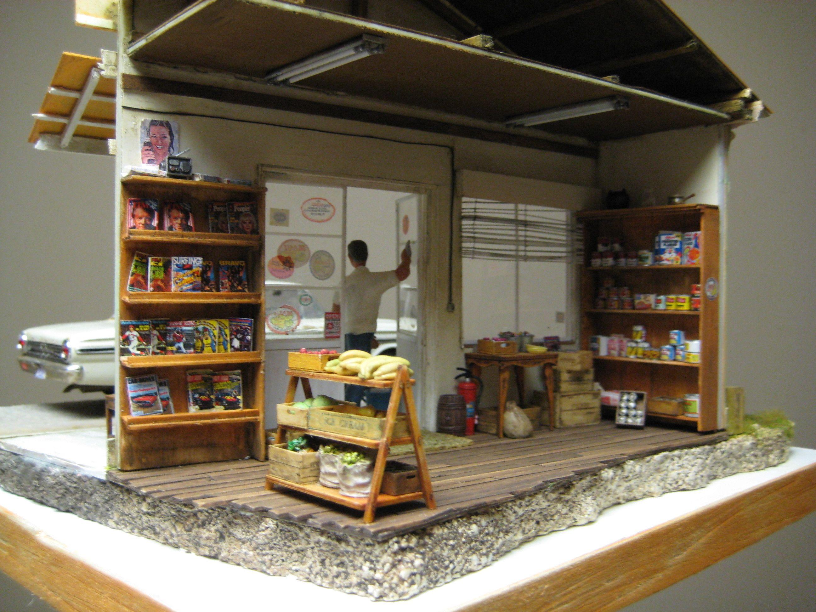 Tanishige Store 1 25 Scale Model Diorama Dioramas
