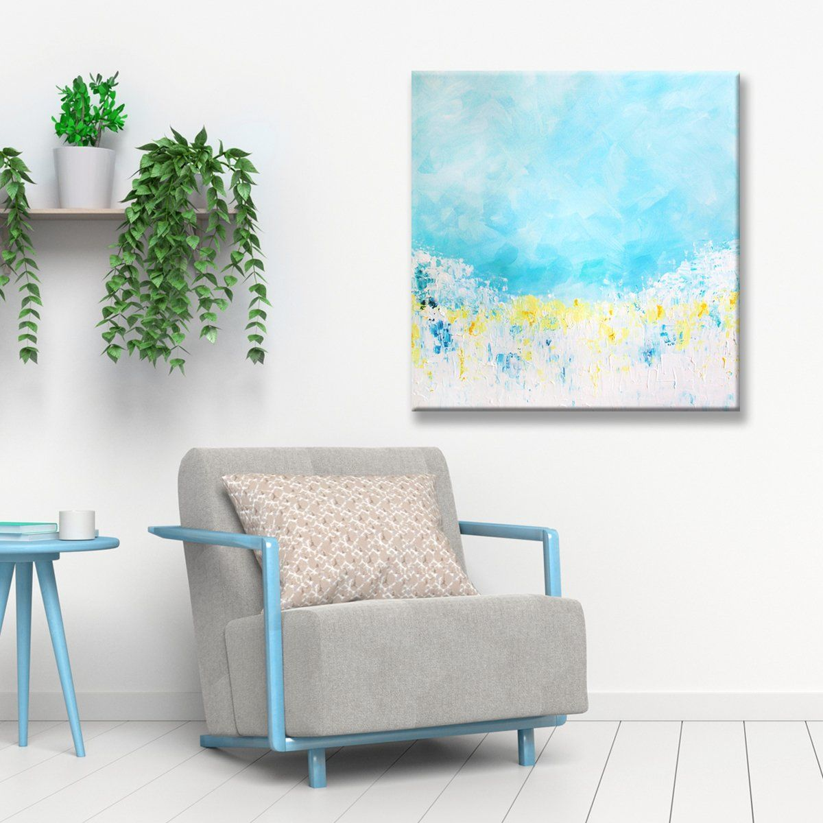 Add A Pop Of Color And Intrigue To Your Wall Decor With This Stunning Yet Simple Abstract Canvas Art Mas Canvas Wall Decor Wall Canvas Modern Wall Art Canvas