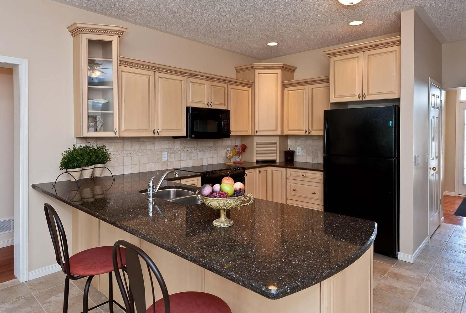 The Rosedale. Custom kitchen in a modular home! Raised ...