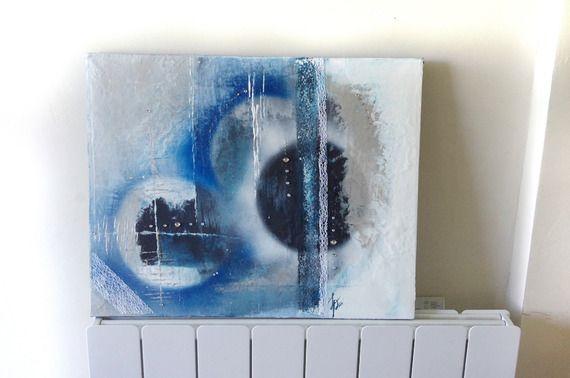 """""""Blue Moon"""" - Tableau décoration Acrylique"""