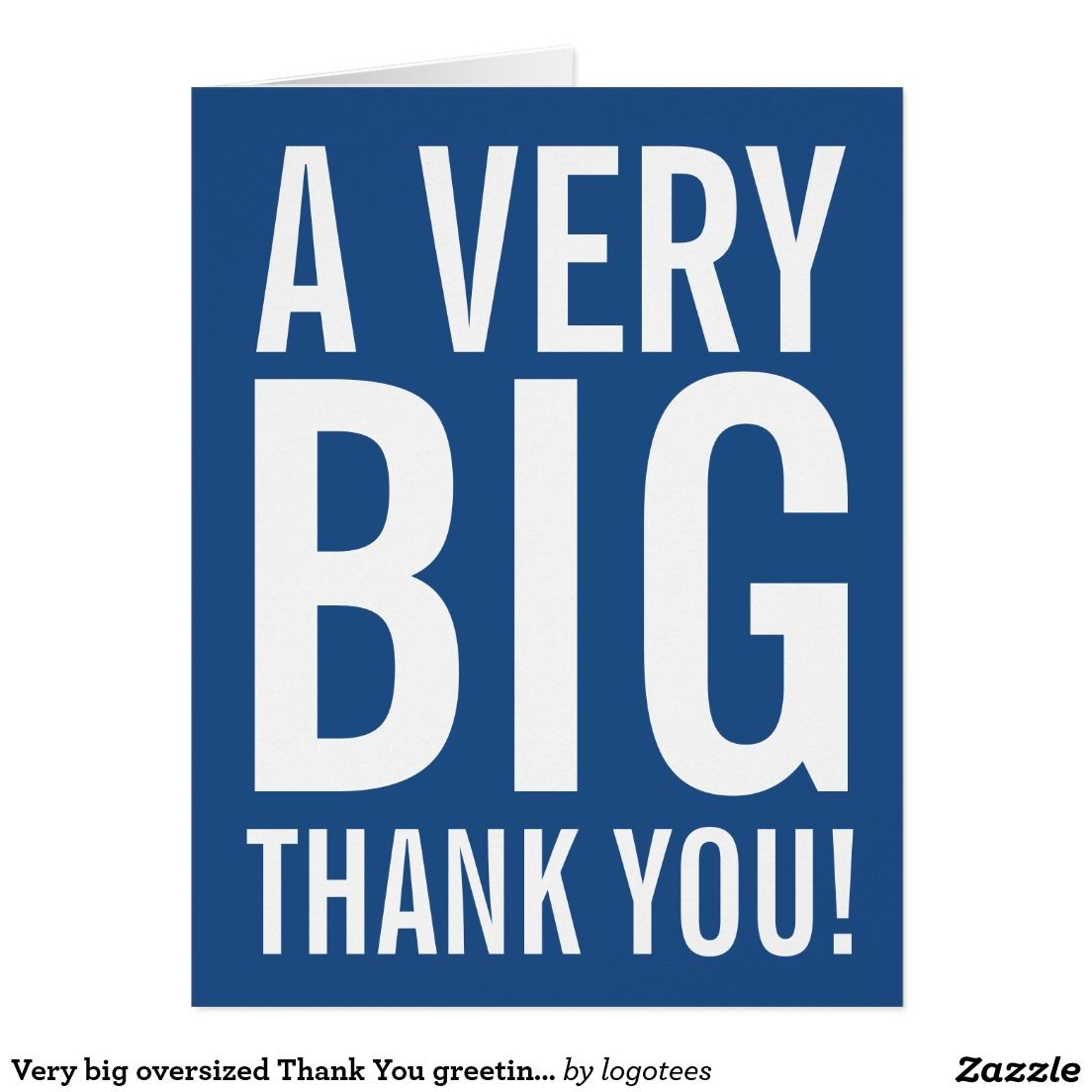 Very Big Oversized Thank You Greeting Cards Wedding Thank You