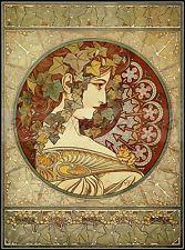 Ivy 1901 Alphonse Mucha Vintage Poster Art Print Decorative Art Nouveau Decor
