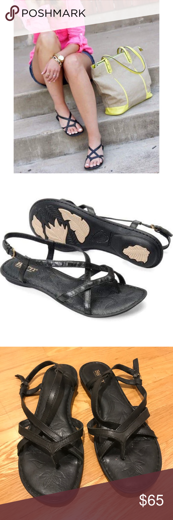 55149f0b9aec Like new! Born Mai sandals black Great condition