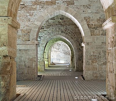 Akko Israel History | Knights' Halls At Old City Of Acre Stock Photos - Image: 23063073 in 2020 (With images) | Acre. Old city. Acre israel