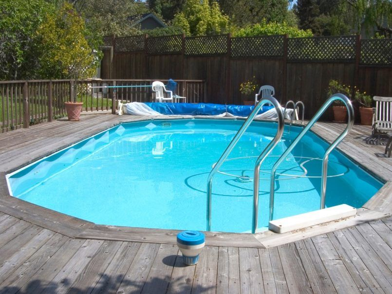 swiming pools oval above ground pool deck with intex oval above ground pool also hand rails - Intex Above Ground Pool Decks