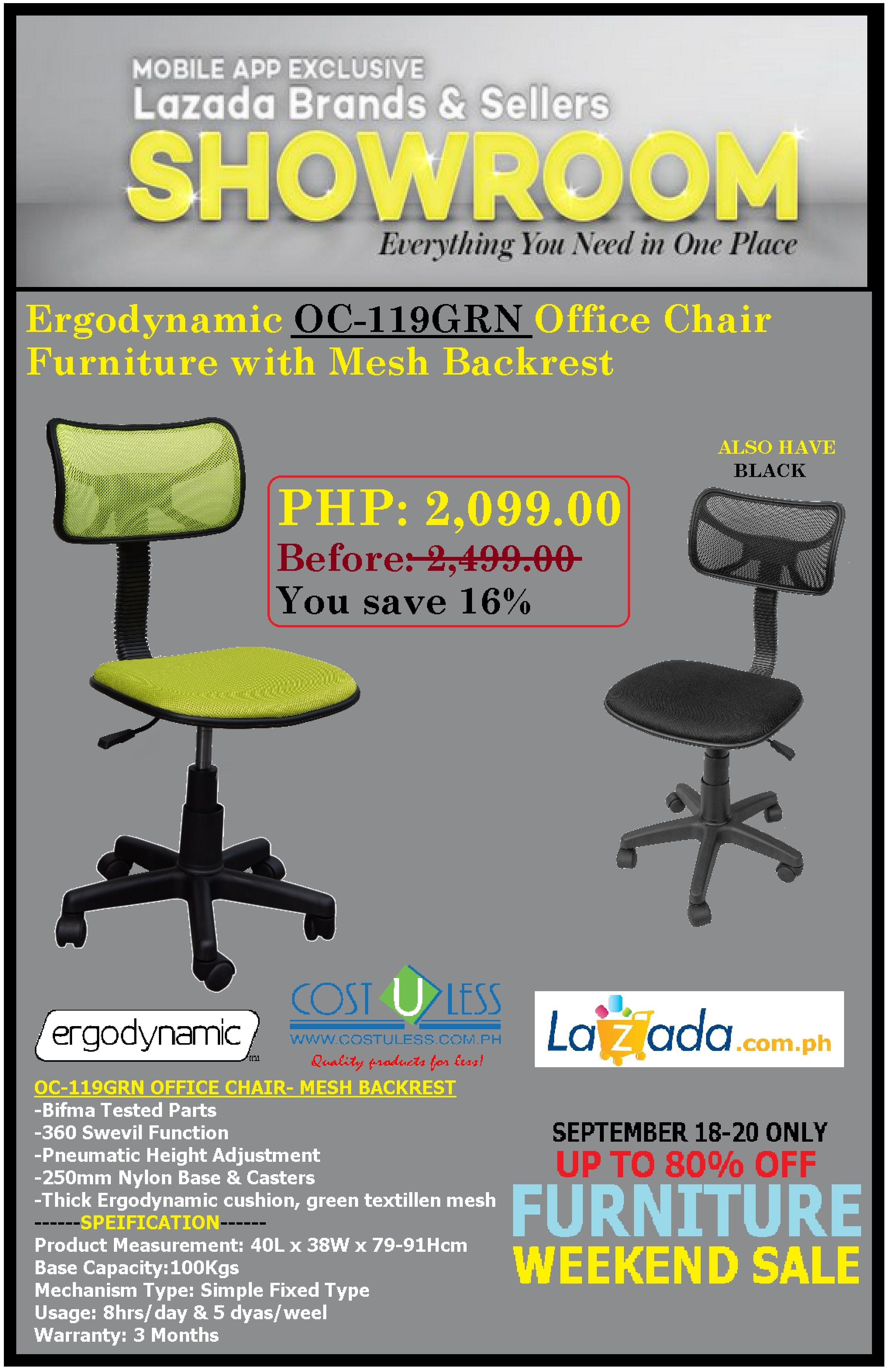 OFFICE FURNITURE SALE @LAZADAu0027S BRANDS U0026 SELLERS SHOWROOM PROMO! SAVE Up To  80% OFF DISCOUNT On COSTULESS OFFICE CHAIRS! PROMO Is EXCLUSIVE On LAZADA  MOBILE ...