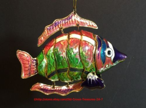Sunfish Sun Catcher Glass Christmas Ornament