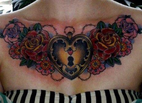 Tatuajes en el Pecho para Chicas PIEL RAYADA Pinterest Tattos