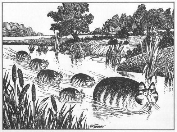B Kliban Cat Original Vintage Art Print Best By Victorianaprint