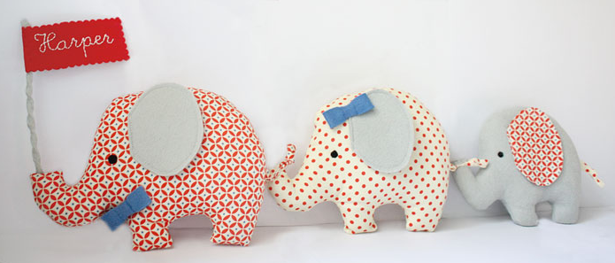 Elephants on parade personalized baby gift wall hangings elephants on parade personalized baby gift negle Image collections