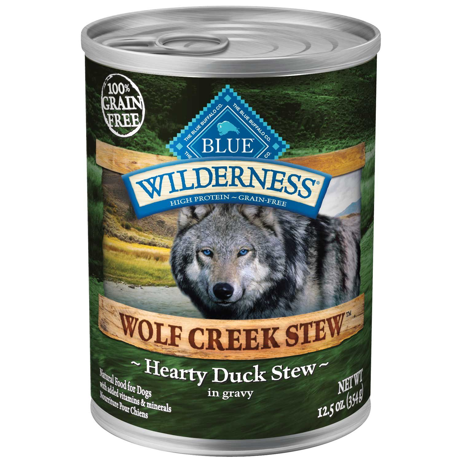 Blue Buffalo Blue Wilderness Wolf Creek Stew Hearty Duck Stew Wet