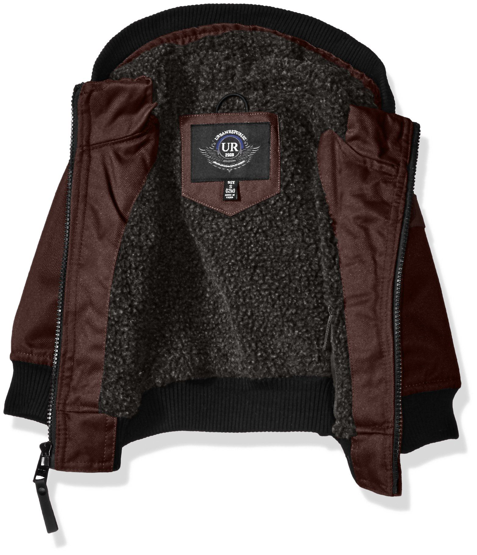 ccab88574 Urban Republic Baby Boys Infant Basllistic Bomber Jacket with Sherpa Lining  Fig 18 Months * Find out more by seeing the photo web link.